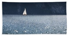 Sailboat Hand Towel by Chevy Fleet