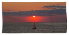 Sailboat Sunset Bath Towel