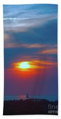Sailboat Sunset Bath Towel by Todd Breitling