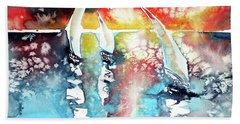Sailboats At The Sunshine Hand Towel by Kovacs Anna Brigitta