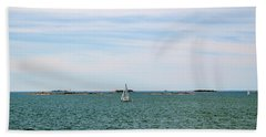 Sailboats In Summer Hand Towel