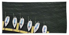 Sailboats Hand Towel by Sandy Taylor