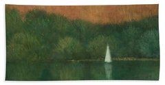 Sailing At Trelissick Bath Towel
