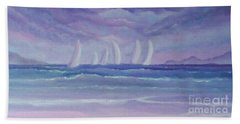 Sailing At Twilight Bath Towel by Holly Martinson