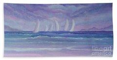 Sailing At Twilight Bath Towel