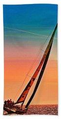 Sailing Boat Nautical 3 Hand Towel