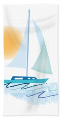 Sailing Day Bath Towel