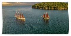 Sailing Frenchman Bay Bath Towel