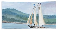 Sailing Into Castine Harbor Hand Towel