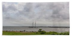 Sailing Into Charleston Sc Hand Towel