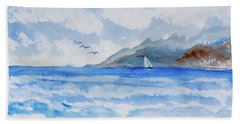 Sailing Into Moorea Bath Towel