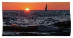 Sailing Into The Sunset Bath Towel