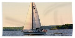 Sailing On Lake Murray Sc Hand Towel