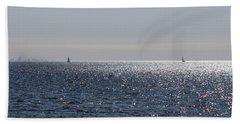 Sailing On Lake Pontchartrain Hand Towel