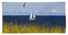 Sailing On Long Beach Island Bath Towel