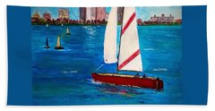 Sailing On The Charles Hand Towel