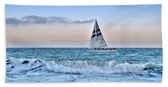 Sailing Santa Cruz Hand Towel