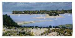 Sailing The Bay Hand Towel