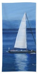 Sailing The Blues Hand Towel