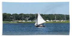 Sailing The Cape Bath Towel