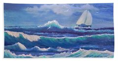 Sailing The Caribbean Bath Towel by Holly Martinson