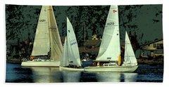 Sailing The Harbor Hand Towel