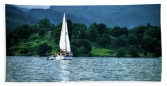Sailing The Lakes Hand Towel