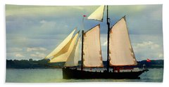 Sailing The Sunny Sea Hand Towel