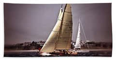 Sailing To Nantucket 005 Hand Towel