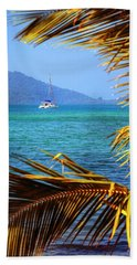 Bath Towel featuring the photograph Sailing Vacation by Alexey Stiop