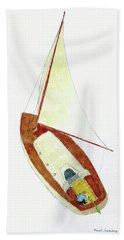Sailing Watercolor Bath Towel
