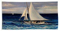 Sailing With The Waves Bath Towel