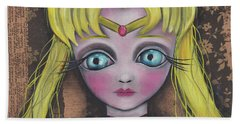 Sailor Moon Bath Towel by Abril Andrade Griffith