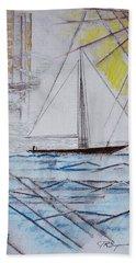 Sailors Delight Bath Towel by J R Seymour