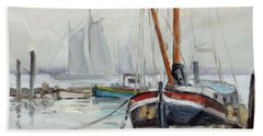 Sails 5 - Dutch Canal Hand Towel by Irek Szelag