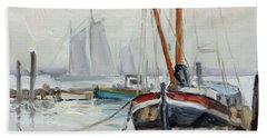 Sails 5 - Dutch Canal Bath Towel by Irek Szelag