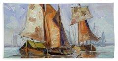 Sails 7 Bath Towel by Irek Szelag