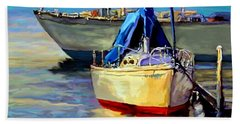 Hand Towel featuring the painting Sails At Rest by David  Van Hulst