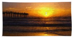 Saint Augustine Beach Sunrise Bath Towel