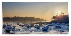Hand Towel featuring the photograph Saint Briac by Delphimages Photo Creations