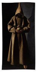 Saint Francis Of Assisi In His Tomb Bath Towel