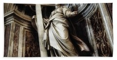 Saint Helena Statue Inside Saint Peter S Basilica Rome Italy Bath Towel