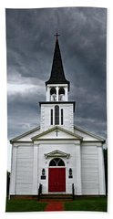 Hand Towel featuring the photograph Saint James Episcopal Church 002 by George Bostian
