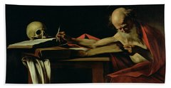 Saint Jerome Writing Bath Towel