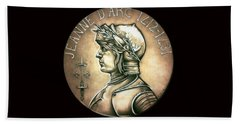 Saint Joan Of Arc Hand Towel by Fred Larucci