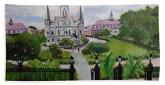 Saint Louis Cathedral Hand Towel