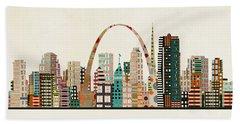 Saint Louis Skyline Bath Towel