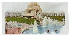 Saint Louis World's Fair Festival Hall And Central Cascade                            Bath Towel