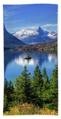 Saint Mary Lake And Wild Goose Island Hand Towel