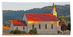 St. Mary's Church At Sunset Hand Towel